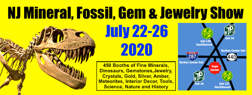 NEW Date: NJ Mineral, Fossil, Gem & Jewelry SHOW