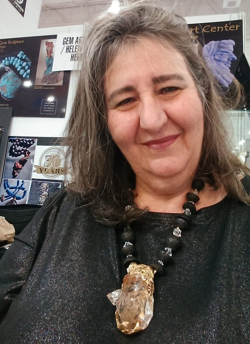 """Here's Helen! You've read her writing in Xpo Press's """"EZ-Guides,"""" now meet the world-renowned gem artist"""