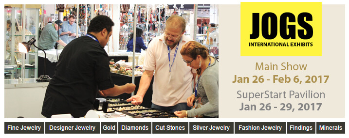 Vendors from 26 Countries Coming to the 2018 JOGS Gem and Jewelry Show, Jan 25 - Feb 5