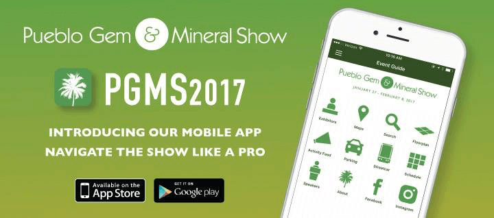 Pueblo Gem & Mineral Show New Mobile App