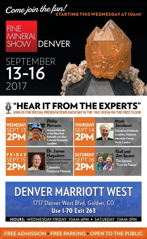 Featured Speakers at the Denver Fine Mineral Show