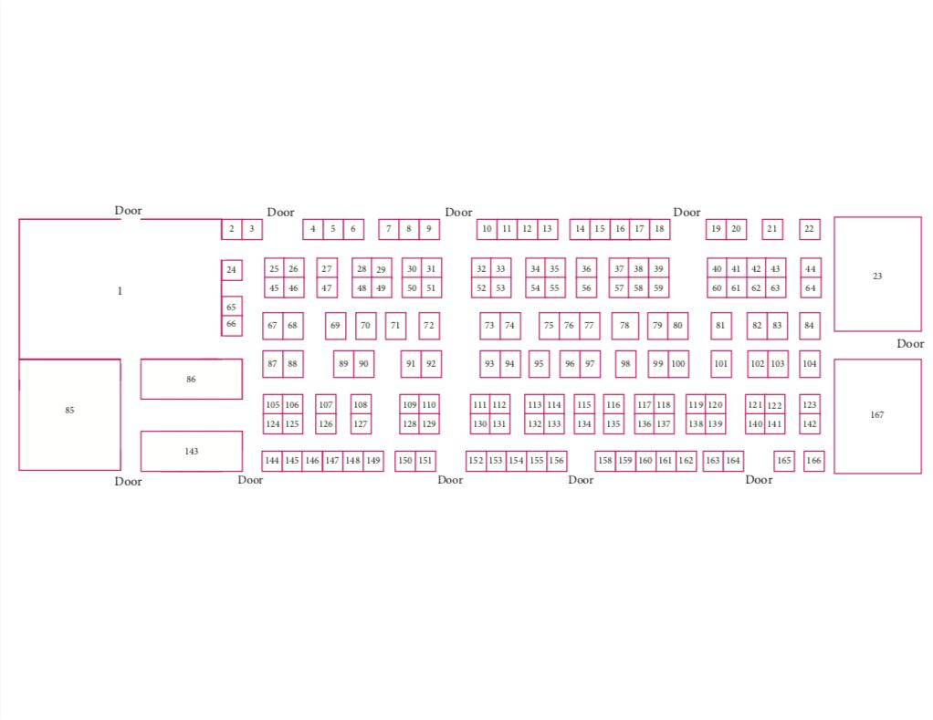 floorplan Kino Gem & Mineral Show