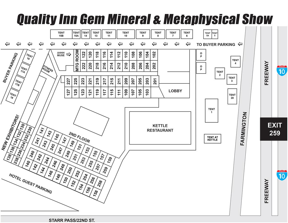 floorplan GIGM - Quality Inn Gem & Mineral Show