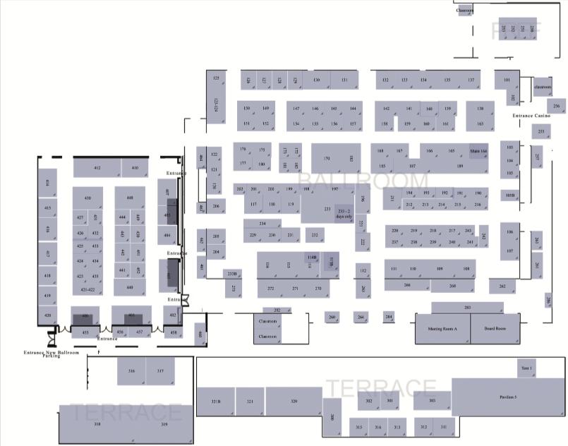 floorplan Tucson Bead Show, The - New Location!