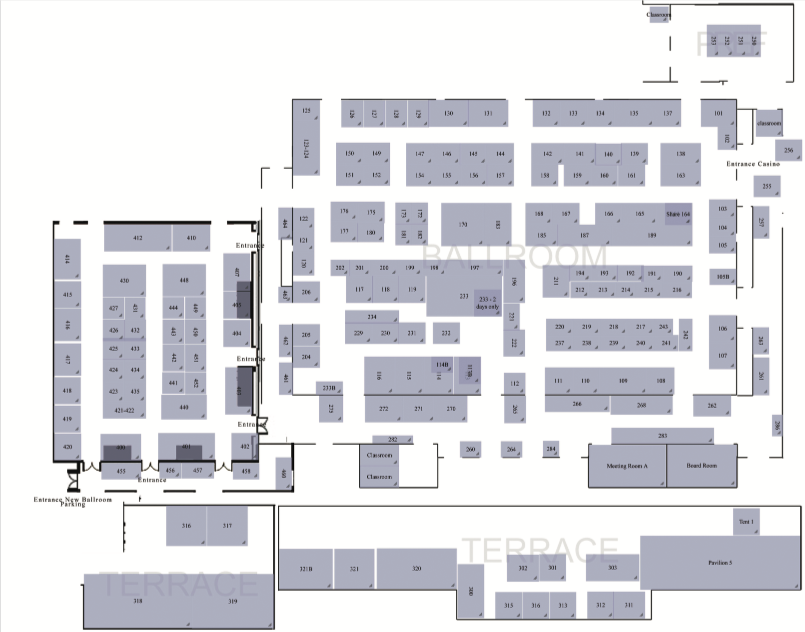 floorplan Tucson Bead Show, The - New Location!