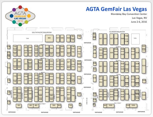 floorplan AGTA GemFair™ Las Vegas