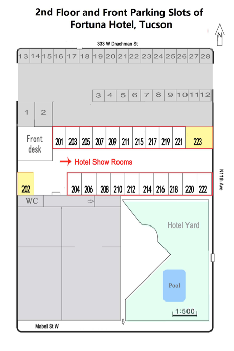 floorplan Executive Inn Fossil, Mineral & Gems Show