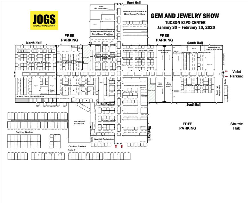 floorplan JOGS Tucson Gem & Jewelry Show