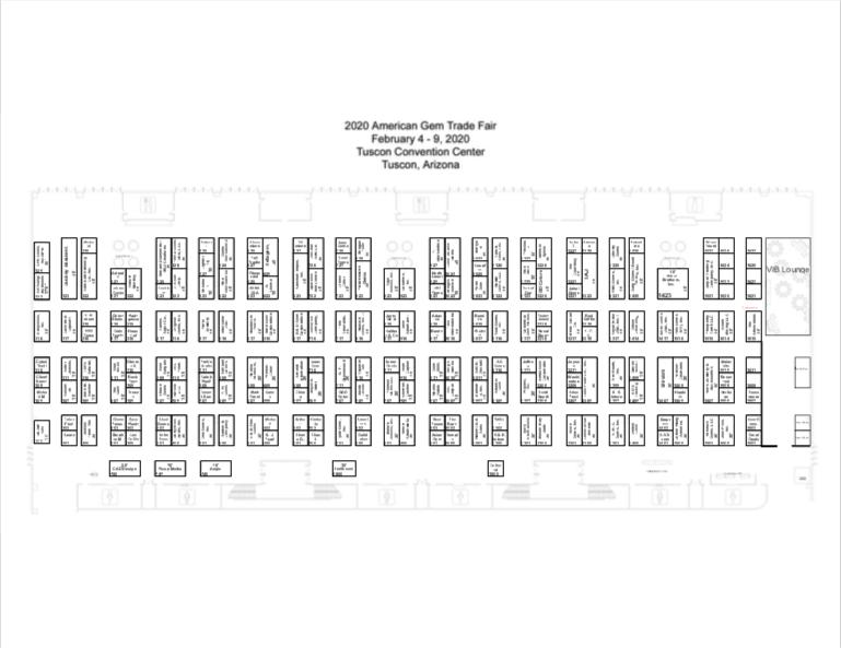 floorplan AGTA GemFair™ Tucson