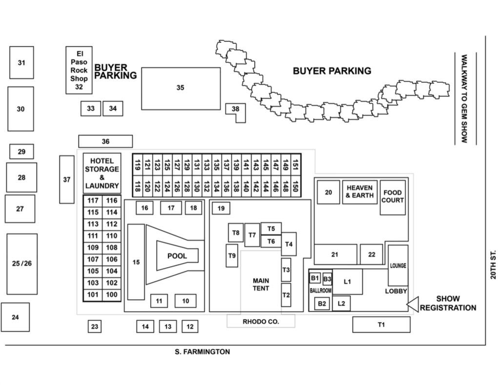 floorplan GIGM - Motel 6 Gem & Mineral Show