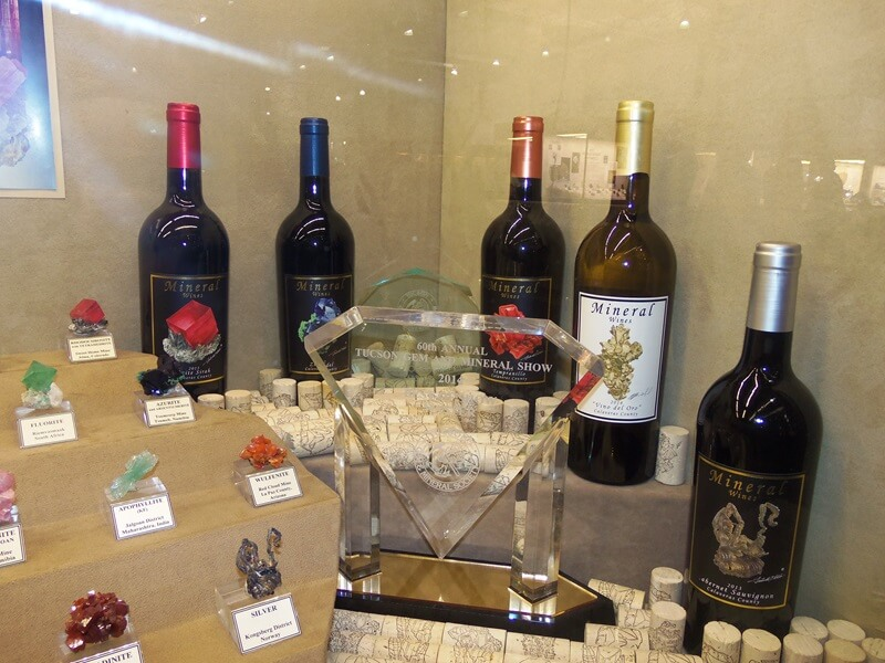 Now this is how you combine two interests - Mineral Wines - prize winning wines at the Tucson Gem & Mineral Show.