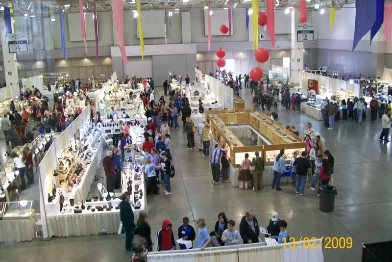 """People ask how the """"Club"""" show differs from the commercial shows around town...they provide booths with educational displays and the Tucson Gem & Mineral Show offers a """"Kid's Morning"""" for local school children."""
