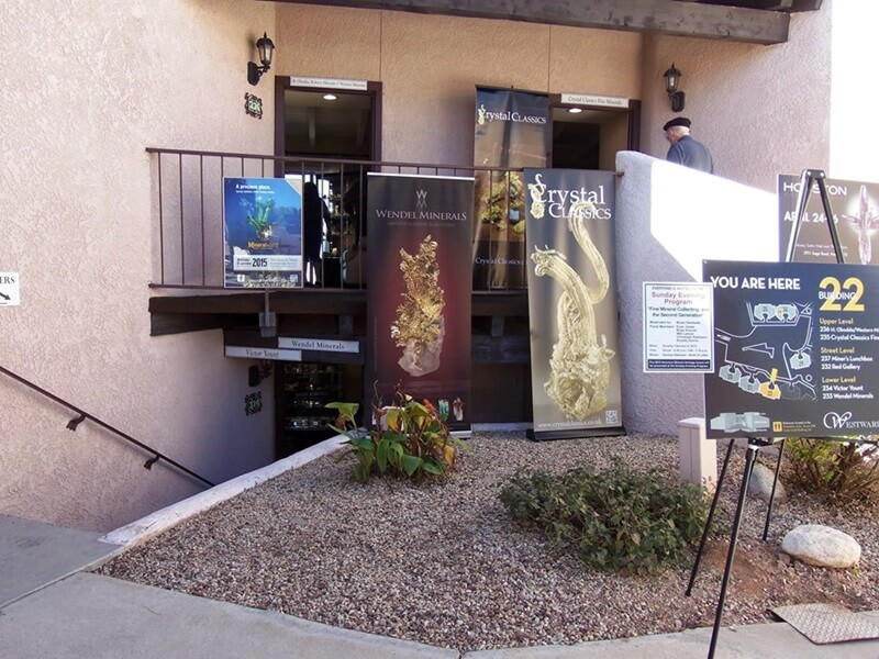 The Westward Look Mineral Show is at the beautiful Westward Look Resort  - it is a bit of a drive, but worth every minute.