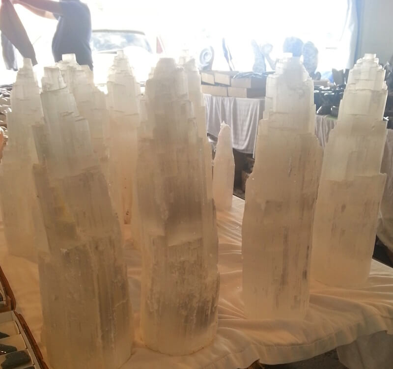 Historically Selenite, a form of Gypsum, has usually been ignored, until the recent interest in New Age healing. Some people believe it can be used to clarify your mind, access past and even future events, and even improve flexibility! 