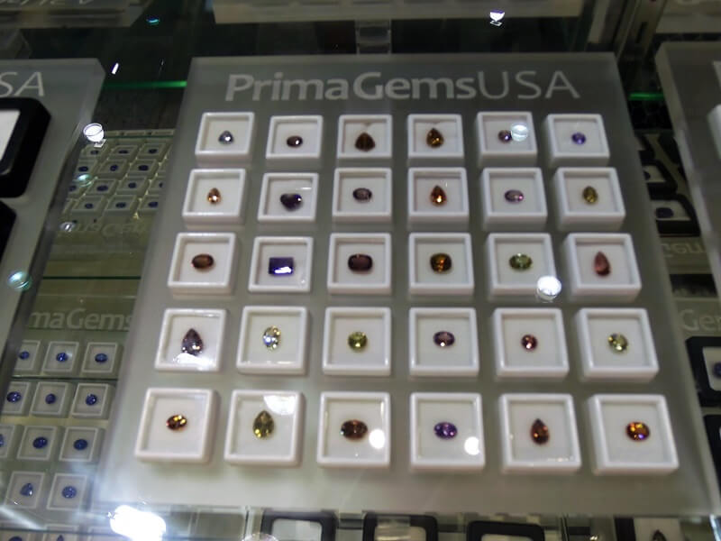 You will find row after row of some of the rarest and most unique gems at the AGTA Gemfair - shown above Rare Colors of Tanzanite from PrimaGemsUSA