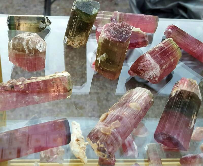 "Bi-Color Tourmaline - the term,  Tourmaline, comes from turmali, an ancient Sinhalese word meaning ""a mixed color precious stone.""   