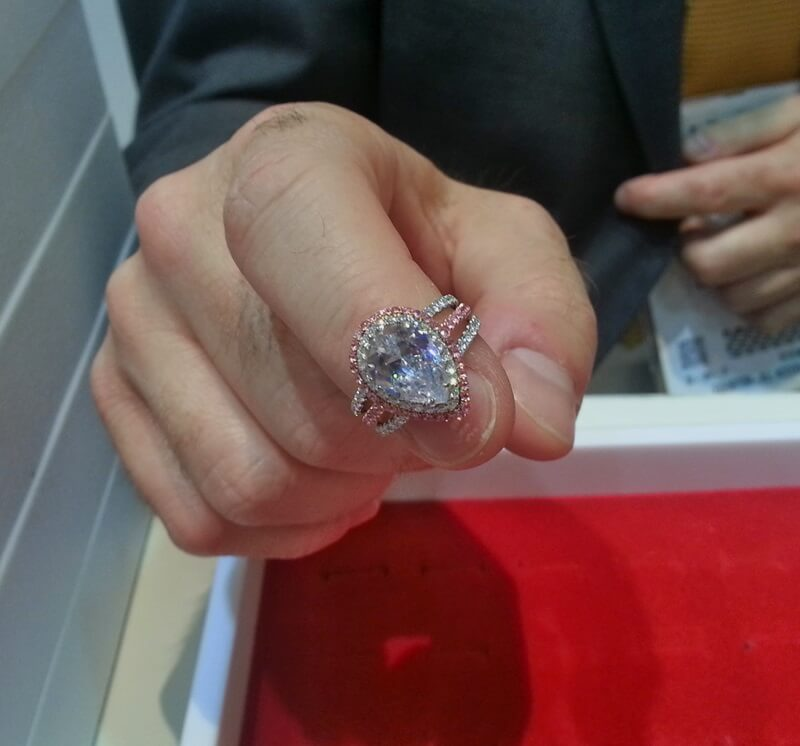 Giant pear shaped diamonds are every girl's best friend,  this one's from Danhov.