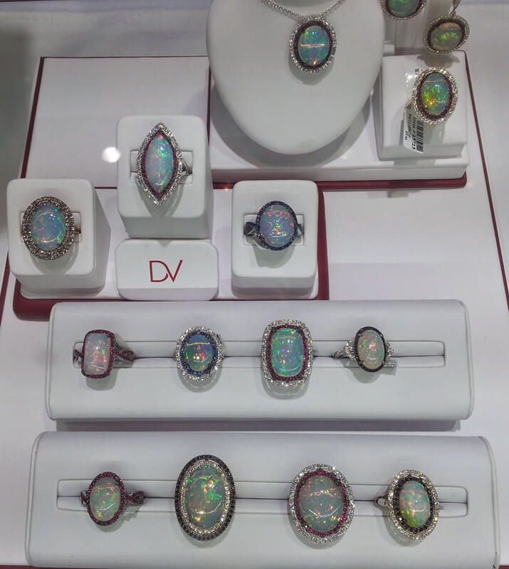 Davani's incredible collection of Opals