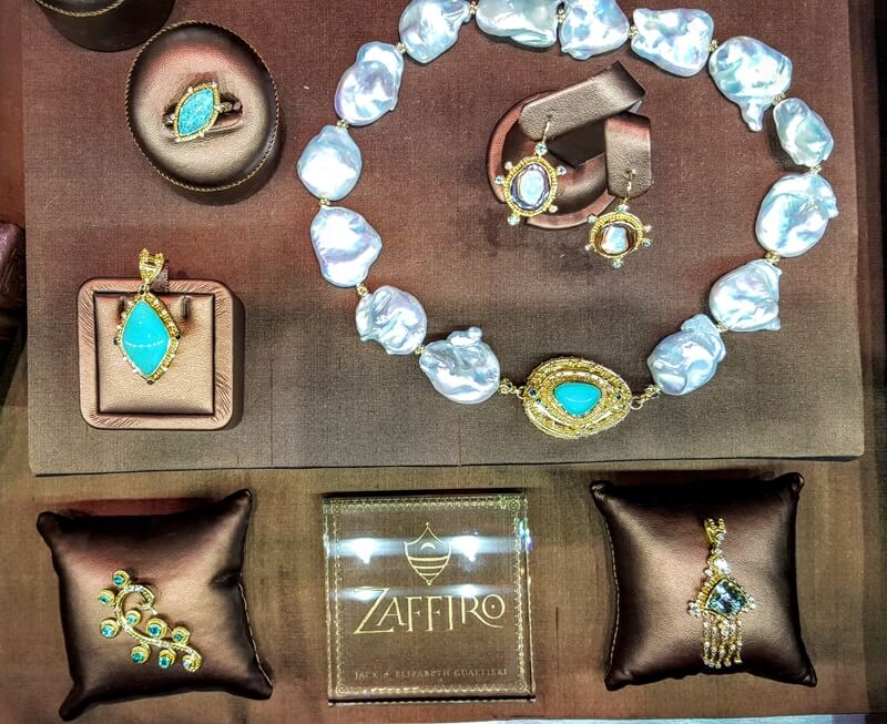 Zafffiro jewels in the Main Salon at Couture