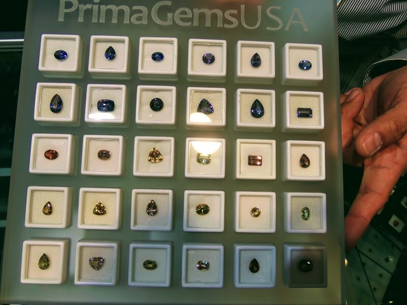 The many colors of gem Zoisite (AKA Tanzanite) from Prima Gems USA