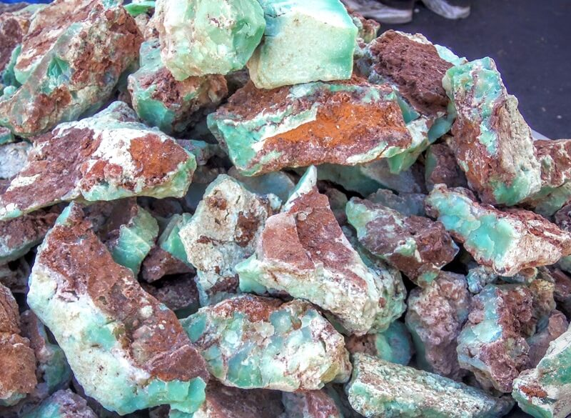 Gems from every corner of the world are represented - Chrysoprase from Australia