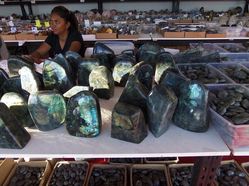 Madagascar Seam - chunky Labradorite at the Echo Valley Gem & Mineral Show.