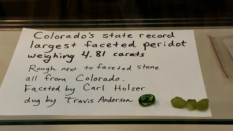 State records fell for faceted Peridot in 2014 at the Denver Coliseum Show