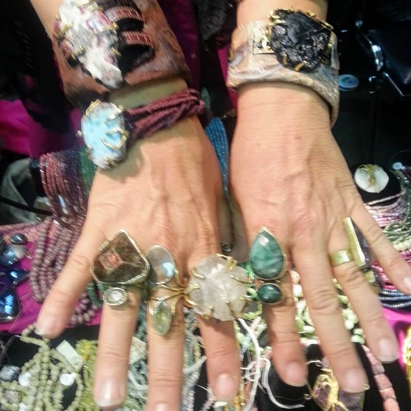 Beads and Components along with finished jewelry in rare and raw gems at the Bead Renaissance Show at the Denver Mart/Plaza....Kia Gems says #ShowMeYourRings - the Denver Gem Show edition.