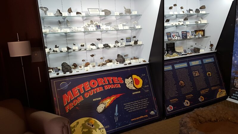 "In the middle of the show tucked into an upstairs room is Aerolite Meteorites and one of TV's ""Meteorite Men"" Geoff Notkin."