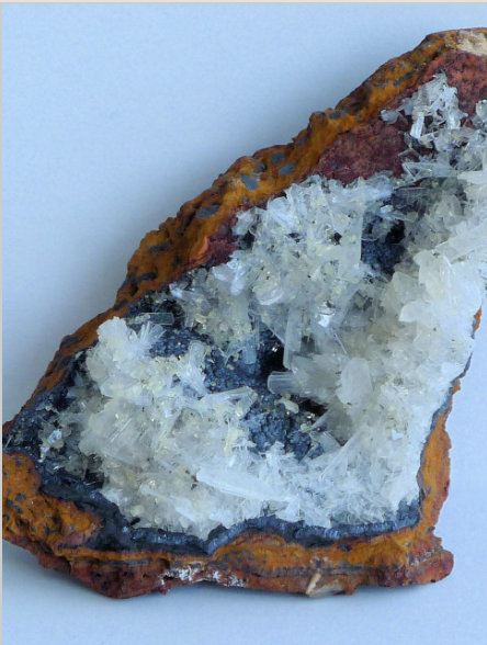 Come enjoy a wide selection of gems and minerals, such as this beautiful hemimorphite.
