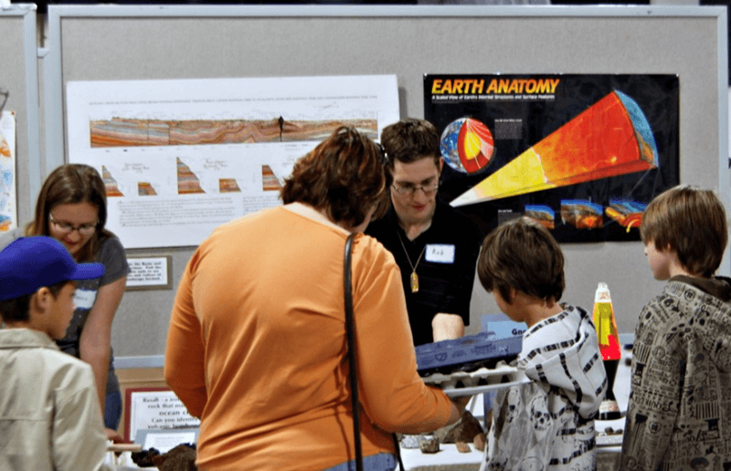 The Tucson Gem and Mineral Show® features two separate annual events that focus on kids.  The Society's hope is to create an impact on curious young minds, and share the delight in the science and beauty of minerals and related earth sciences.