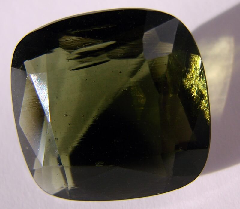 Moldavite gemstones