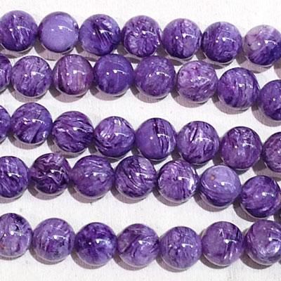 Charoite beads, AAA grade
