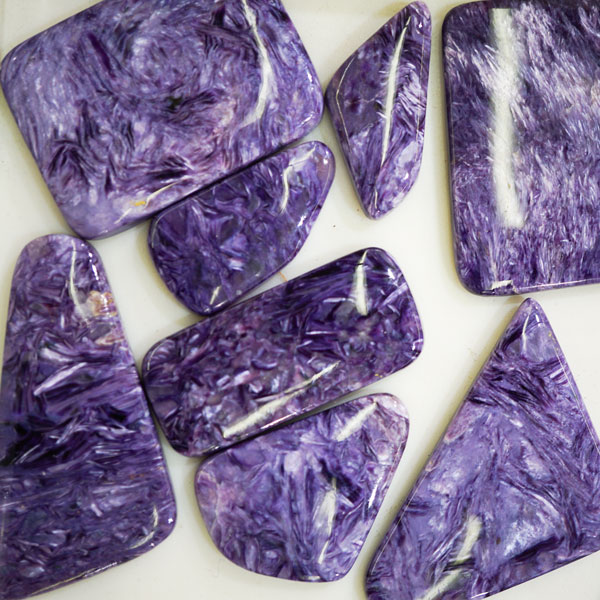 Charoite free-form cabochons