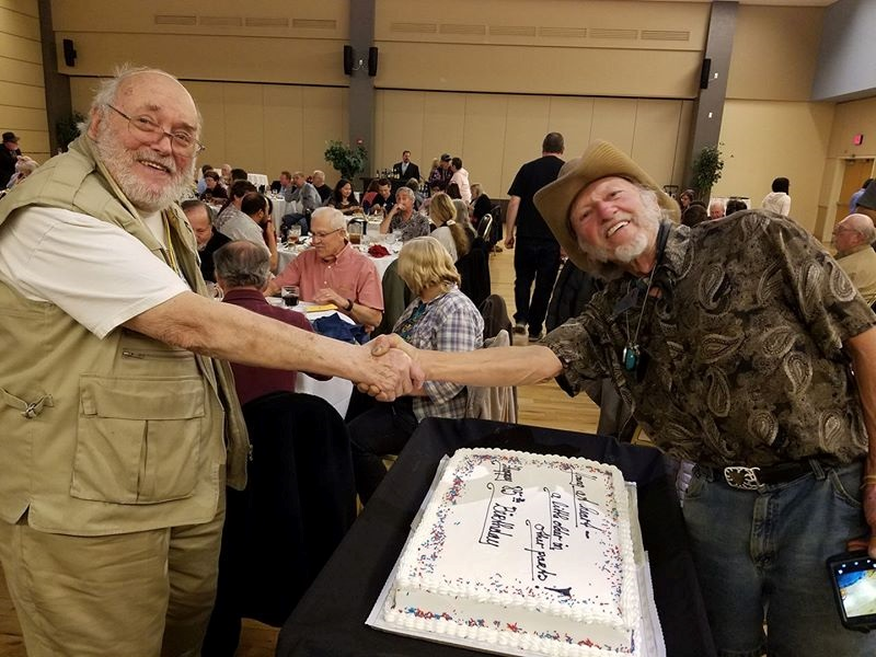 Celebrating Bill Mason's 85th birthday at the AAPS dinner in Tucson