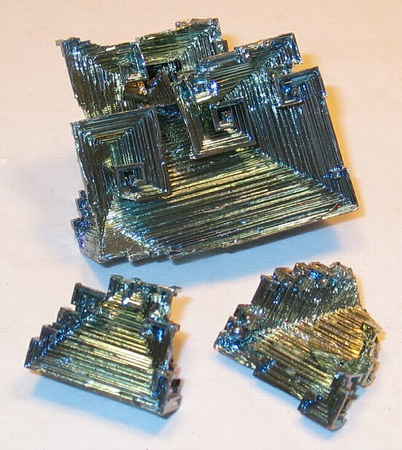 Bismuth: Laboratory grown in Belgium. Bi