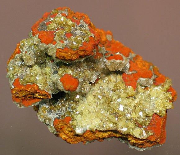 Adamite. Locality: Ojuela Mine - Level 4, Mapimi, Durango, Mexico. Zn2(AsO4)(OH)