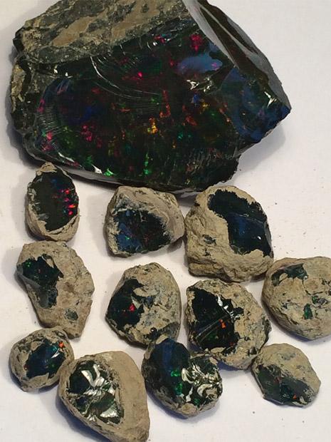 Black Ethiopian Opals