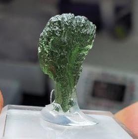 Moldavite drop