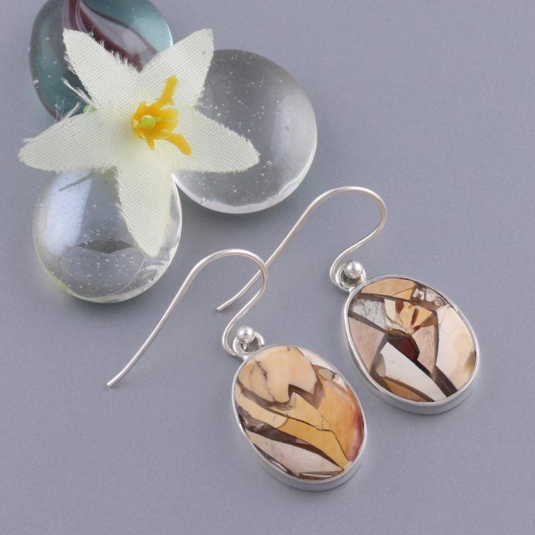 Brecciated Mookaite Earrings