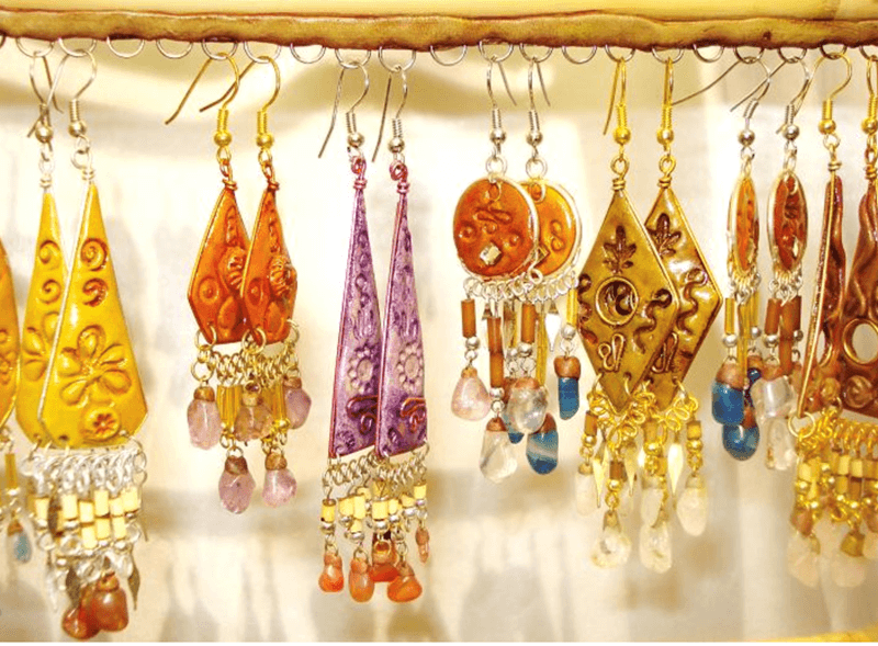 Peruvian Fimo Earrings. Each earring is unique and handmade in Peru.