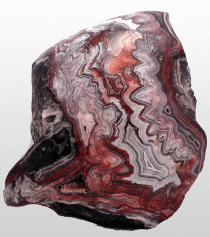 Agate is a type of Chalcedony, it is a cryptocrystalline form of silica.