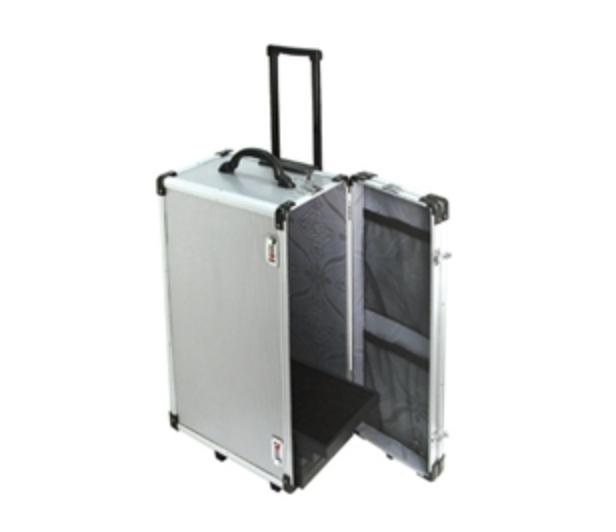 Aluminum hard sided rolling case