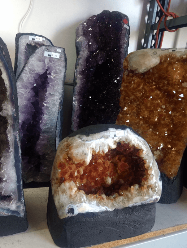 Amethyst and Citrine geodes