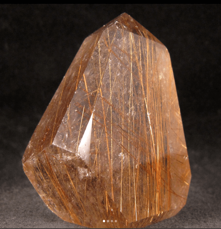 Beautiful rutilated quartz!